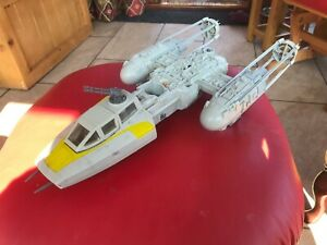 vintage star wars Y-WING FIGHTER WORKING ELECTRICS ROTJ 1983 complete & working