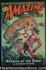 Amazing Stories Dec 1942 J. Allen St. John CVR, Howard Browne, Edmond Hamilton,