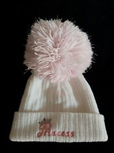 Baby Girls Bobble Hat Age 0-6 Months