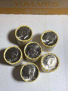 2021 D Kennedy Half Dollar Uncirculated Bank Wrapped NIFC $10 Roll 20 Coins BU