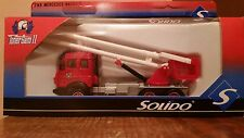 Solido Toner GamII Mercedes Nacelle Aerial FireLift Truck #3149,1:60 Diecast-NIB