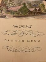 Vintage Menu The Old Mill 1968 Toronto Canada A La Cart Menu Mailed PS16