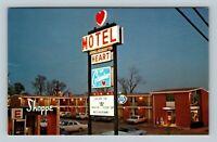 Columbus GA, Heart Of Columbus Motel, Chrome Georgia Postcard