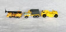 Set Of 3 Construction Vehicles Diecast VINTAGE Dated 1974-1981