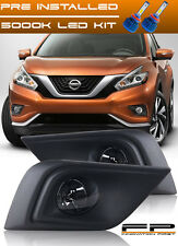 For 2015-2017 Nissan Murano LED Clear Lens Fog Lights Complete Kit With Harness