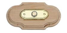 Natural Oak Doorbell Plinth, with illuminated brass bell push button