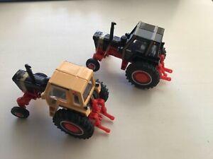 1/64 Case Demonstrator 1170 tractors 1 black & 1 yellow
