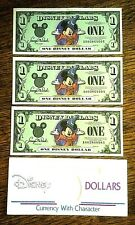 Disney Dollar 2001 Sorcerer Mickey A003 $1 LOT OF 3 UN-CIRCULATED MINT CONDITION