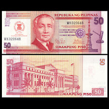 Philippines 50 Piso, 2012, P-211A NEW, COMM. MEMBER ASEAN, UNC, Banknotes