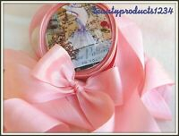"3 Yards Silk Ribbon 1.25"" Width BABY PINK 1 1/4"" Inch Width SILK COTTAGE RIBBON"