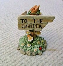 "Flutter Blossom Family ""Go Into The Garden & Greet The Flowers"" Figurine"