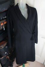Dries Van Noten Black wool & Cashmere coat Sz S UK 10