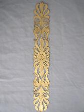 Excep Plaque de propreté XIXe laiton repercé doré mat brillant Entrée de serrure