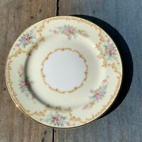 "1933 Noritake Melrose 6 1/4"" BREAD & BUTTER PLATE Yellow Floral Gold Gilded EUC"