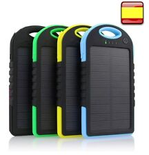 CARGADOR DE BATERIA EXTERNA SOLAR 5000 MAH PARA MOVIL TABLET POWER BANK