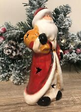 Father Christmas Ceramic Santa Ornament with LED Flashing Lights 2706