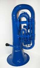 Cool Wind CEU-200 Series 4-Valve Plastic Euphonium Blue - Plays Great