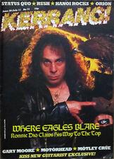 Kerrang Magazine Ronnie Dio Gary Moore Motorhead Montley Crue Rush No71 1984
