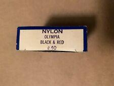 Rare Old Vintage - OLYMPIA Nylon Typewriter Gold Star Ribbon - BLACK & RED #40