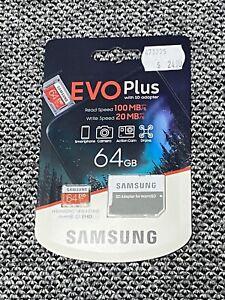 Samsung Evo Plus Micro SD Card With Adapter UHS-I 4k SDXC 64gb