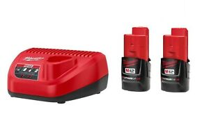 Milwaukee M12 12V Lithium-Ion Comact (CP) 1.5 Ah Battery & Charger Starter Kit