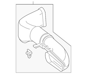 Genuine Mercedes-Benz Air Inlet Duct 651-090-05-37