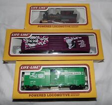 Vintage Life Like 50 Track Set With 3 Cars Including Locomotive Good & Plenty