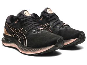 asics Women's Running Shoes GEL-NIMBUS 23 PLATINUM 1012B013 001 BLACK ROSE GOLD