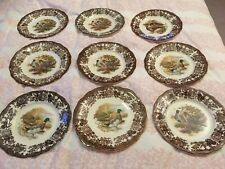 royal worcester palissy Game Series Pheasant Duck Grouse 9 Dinner Plates 10""