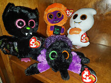 AUTHENTIC Beanie Boo Set 2017 Halloween 6 inch Creeper Skelton Dart Scream !