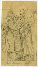 Antique Drawing-DESIGN-SAINT IGNATIUS-SAINT THEOPILUS-Anonymous-ca. 1870