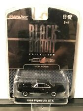 1/64 Greenlight Black Bandit 1968 Plymouth Gtx Coupe