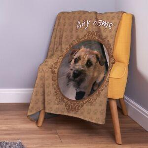 Personalised Neutral Dog Photo Design Soft Pet Fleece Throw Blanket