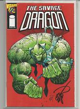 Erik Larsen Signed Savage Dragon  Wizard 1/2 (1993 2nd Series)