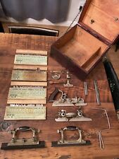 New ListingVintage Stanley No. 55 Combination Plane Complete With 52 Blades!