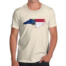 Twisted ENVY para hombre Premium de bandera del estado de Carolina del Norte EE. UU. Algodón Camiseta