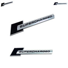 2 X Black Supercharged Emblem Fits GM - Ford - Audi - Cadillac - 100% Universal
