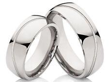 2 fedi nuziali anelli di Fidanzamento acciaio inox argento colori &