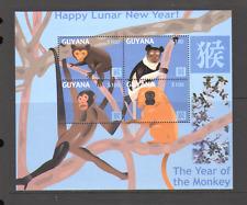 Guyana 2004 YO Monkey/Greetings/New Year 4v m/s n15427