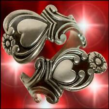 Treasured Heart STERLING SILVER Spoon Ring AVON VINTAGE