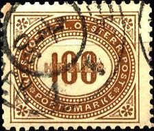 AUSTRIA - Segnatasse - 1900 - Tipi prec. valori in heller dent. - 100 h.