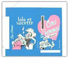 Boite à monter serigraphie HARDY  CHIC BULL Lolo et sucette Cons d'homme bleu 69