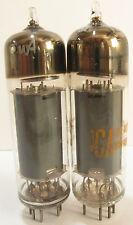 2 +/-1961 RCA 6BQ5 (EL84) tubes - Clear Glass, Gray Plate, Top Disc Getter