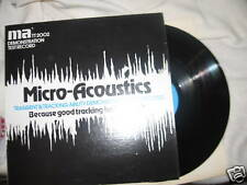 Micro Acoustics MA TT 2002 Transient Tracking Test lp