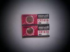 2 Maxell Lithium Batteries CR1616 1616  3V USA Seller