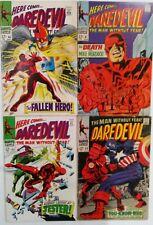 Daredevil # 40 41 42 43 Marvel Comic Book Lot 4 Silver Age Captain America 1968
