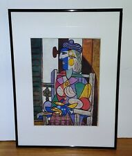 FRAMED Portrait Of King by Pablo Picasso 20x14 Art Print Poster Black Metal