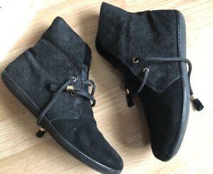 RARE Authentic Louis Vuitton Monogram Black Boot Sneakers Size LV 39