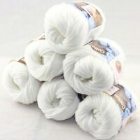 SALE 6 balls X 50g Soft  Cotton Baby Hand Knitting New Yarn 01