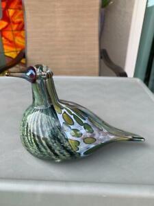 OIVA TOIKKA SIGNED RARE1997 Whippoorwill Glass Bird